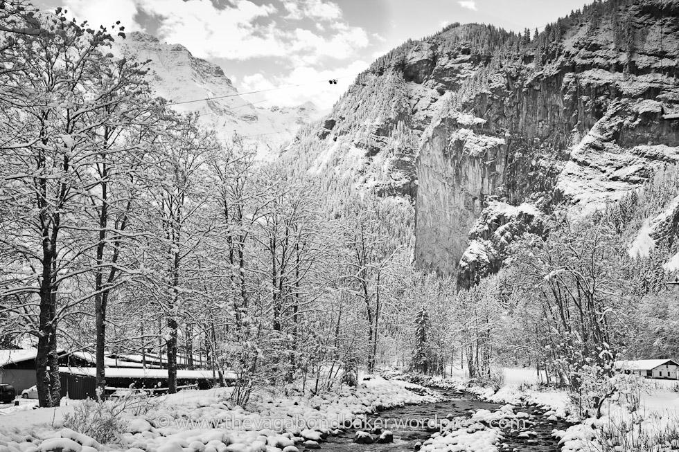 Lauterbrunnen valley near Stechelberg