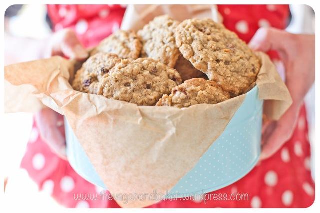 cookies, sultanas, oats, raisins, food, baking