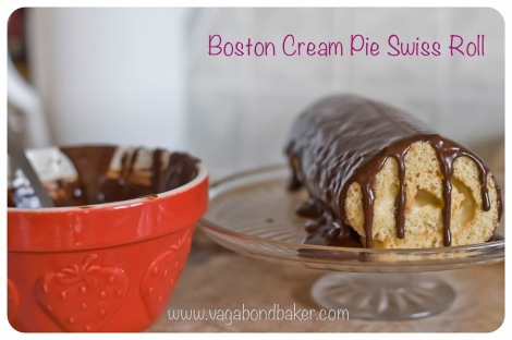 boston cream pie swiss roll