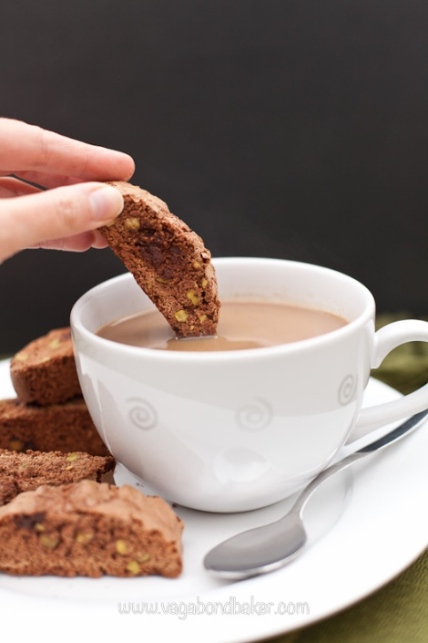 Chocolate and Pistachio Biscotti