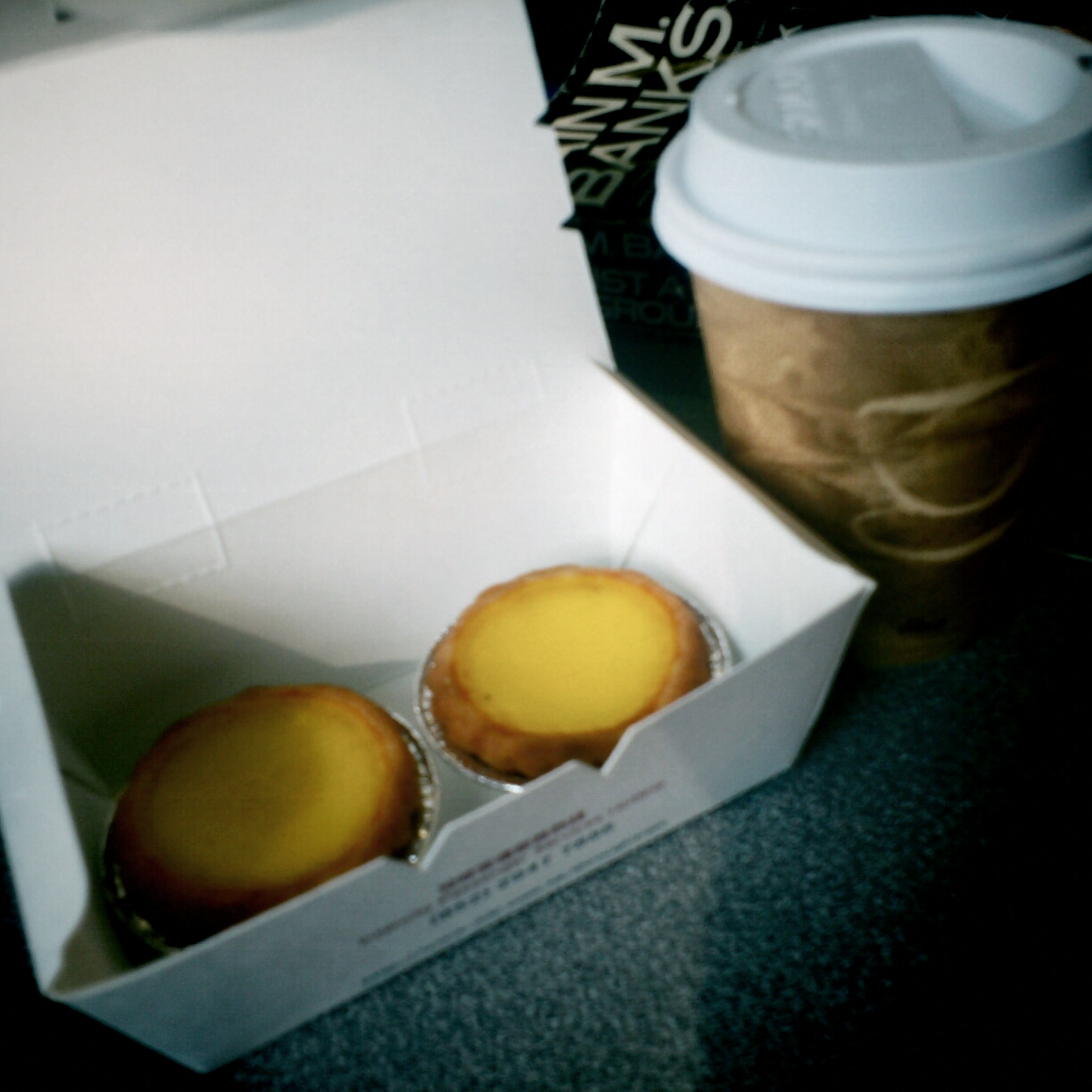 Egg tarts and tea on the train